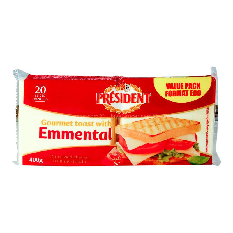 President Emmental Cheese Slices 400g