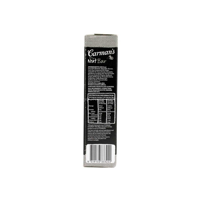 Carman's Dark Choc Espresso Nut Bar 160g