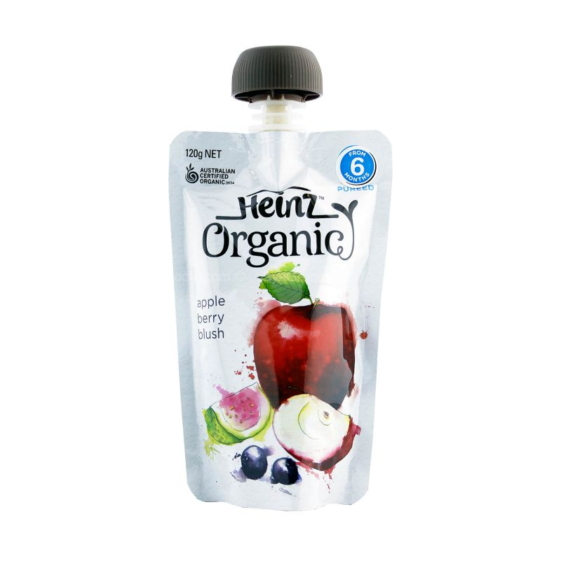 Heinz Organic Apple Berry Blush Baby Food (6 months ++) 120g