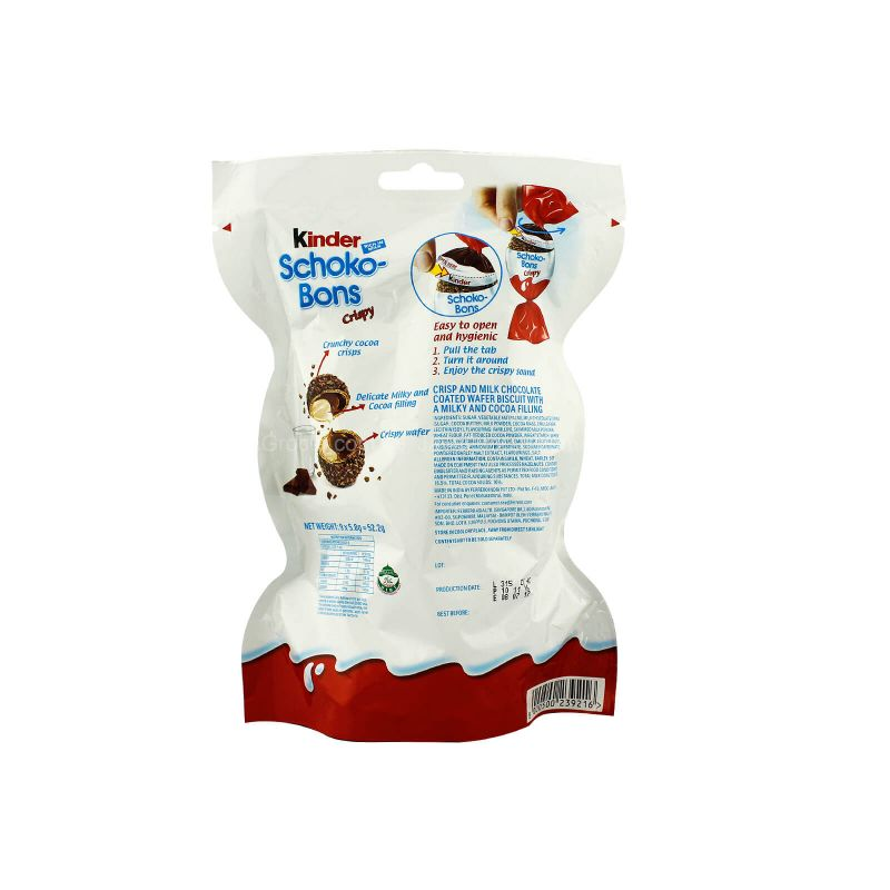 Kinder Schoko-Bons Crispy Chocolate Wafer Balls 52.2g