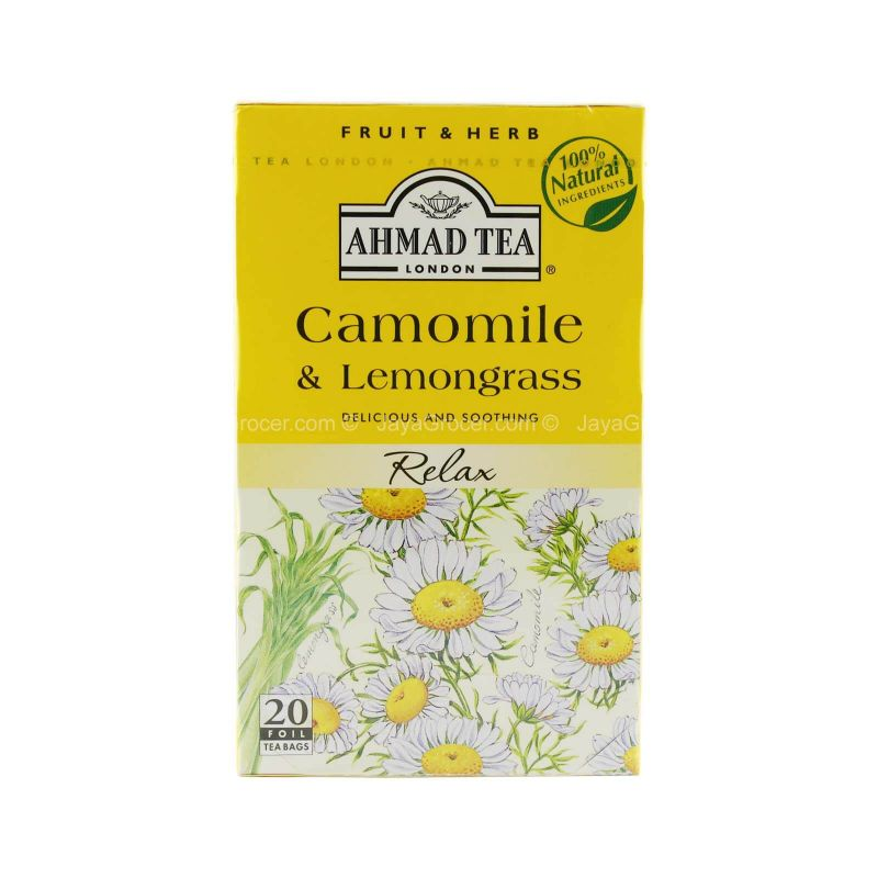 Ahmad Tea Camomile & Lemongrass Tea 30g