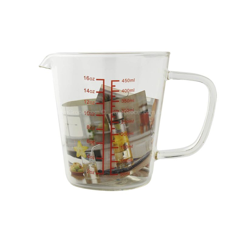 Glass Measuring Jug (450ml) 1set