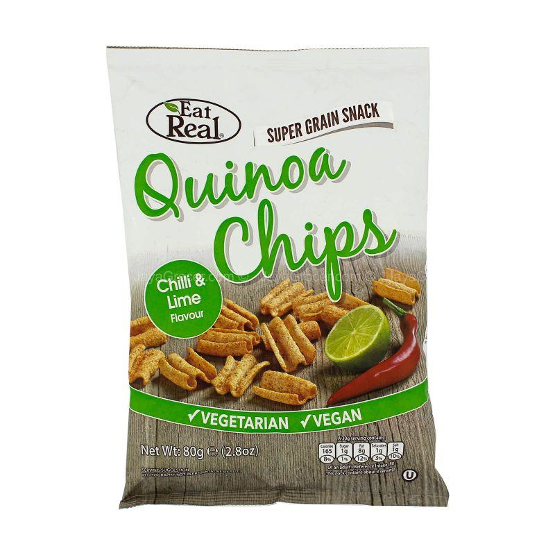 Eat Real Quinoa Chips Chilli & Lime Flavour 80g