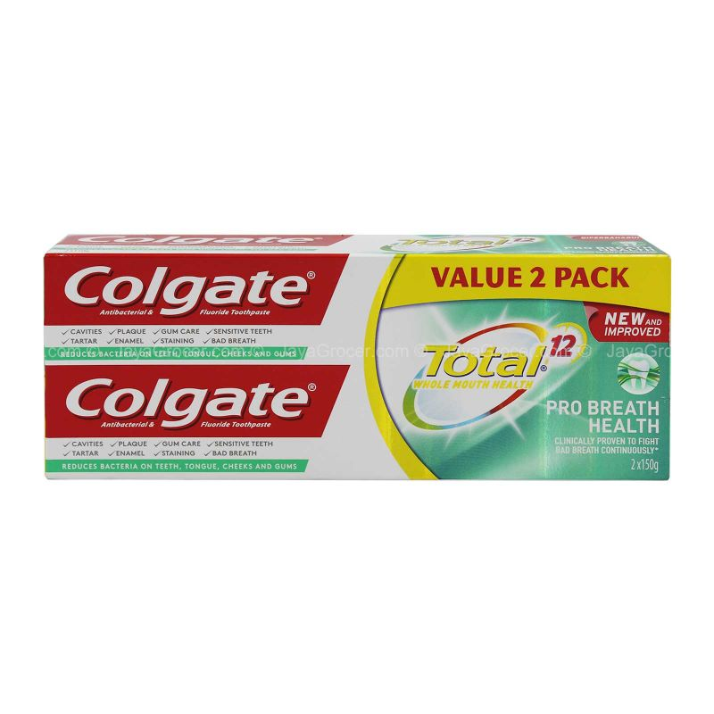 Colgate Total Pro Breath Health Toothpaste Twin Pack 150g x 2