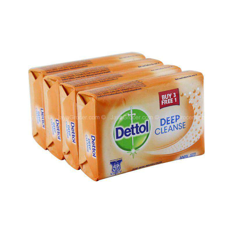 Dettol Deep Cleanse Bar Soap 105g x 4