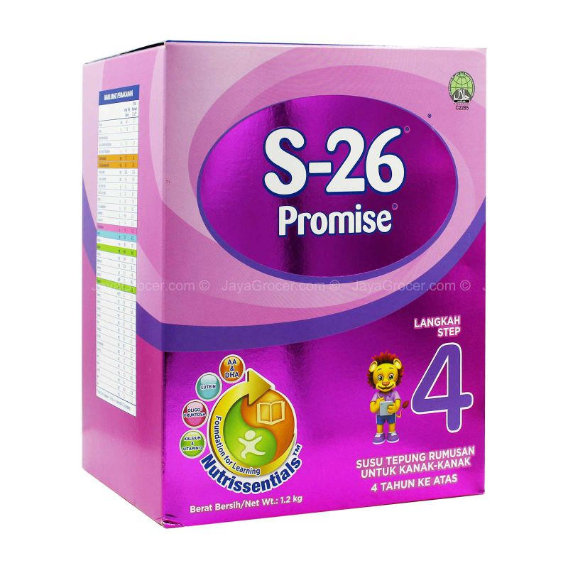 Wyeth S-26 Promise Step 4 Formulated Milk Powder 1.2kg