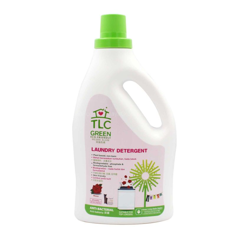 TLC Green Laundry Detergent Rose Scent 2L
