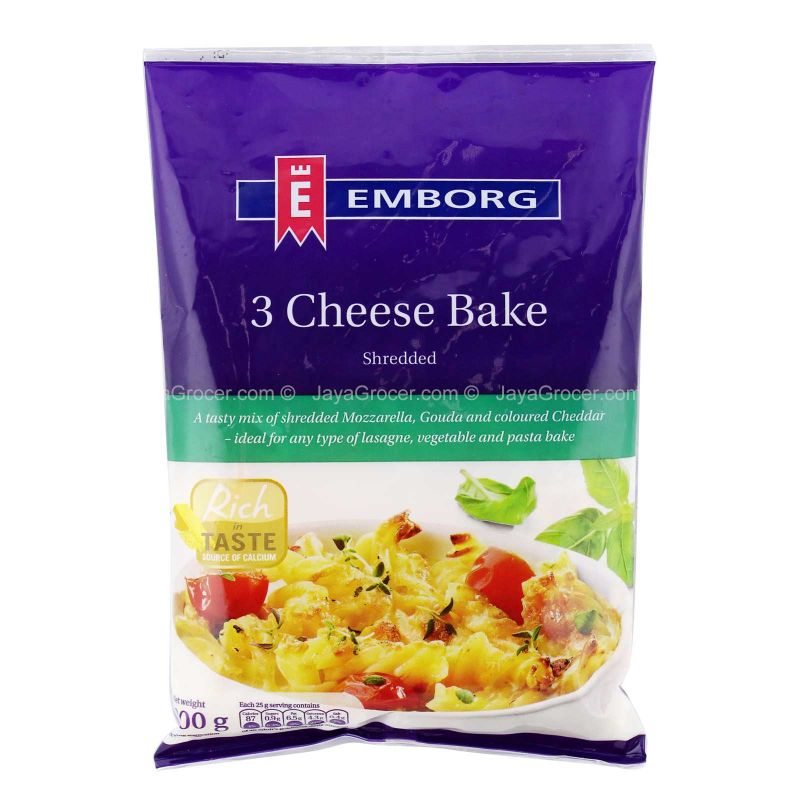 Emborg 3 Cheese Bake Shredded 200g