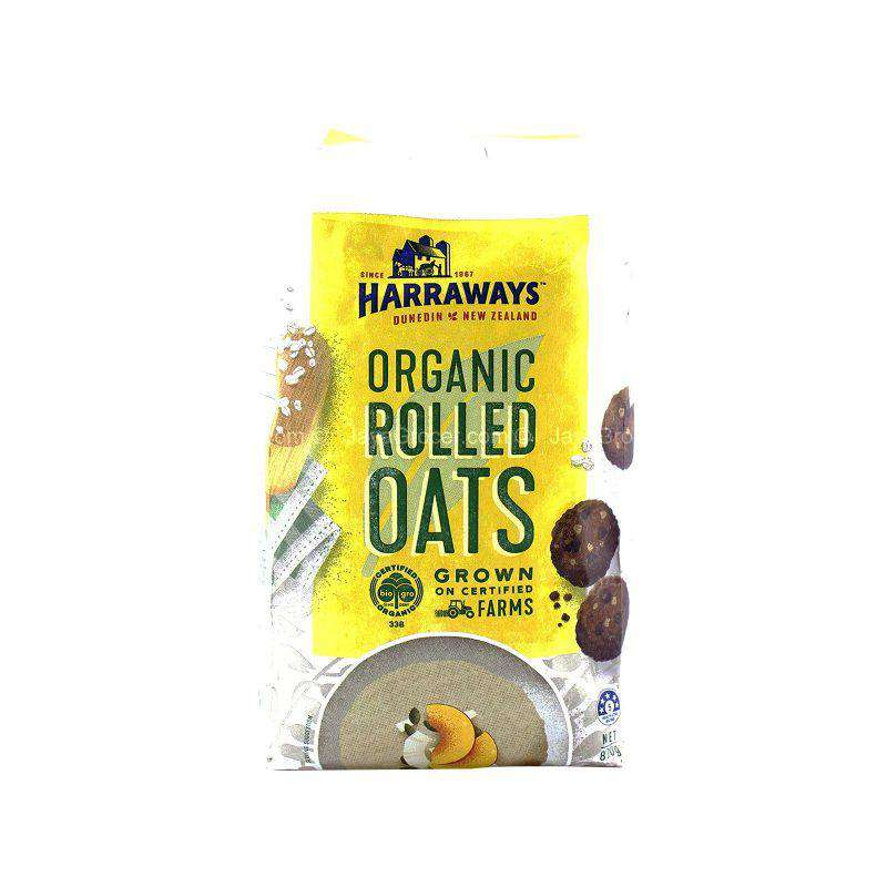 Harraways Organic Rolled Oats 800g