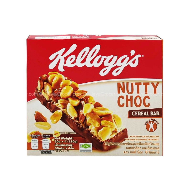 Kellogg's Nutty Choc Cereal Bar 120g