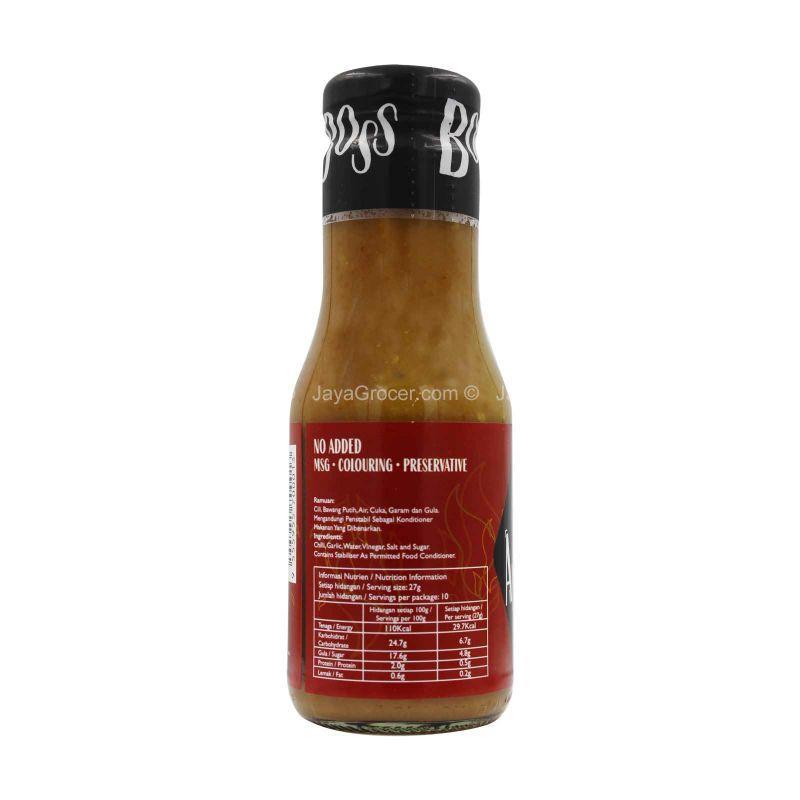 Angry Boss Chilli Sauce with Garlic (Medium Hot) 270g