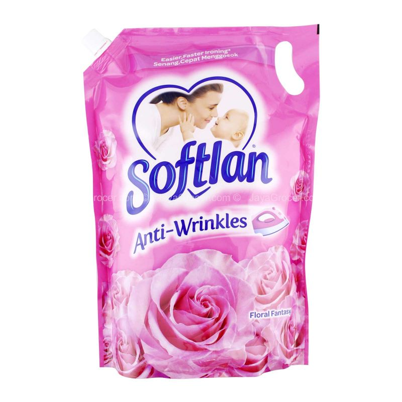 Softlan Anti Wrinkles Floral Fantasy Fabric Conditioner 1.6L