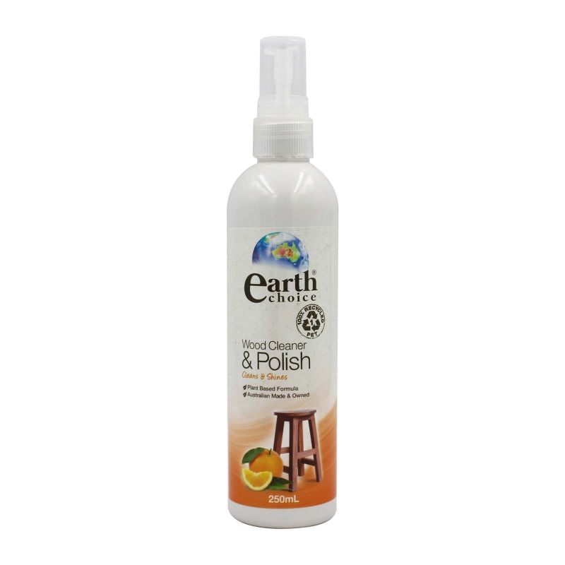 Earth Choice Wood Cleaner & Polish Orange Scent 250ml