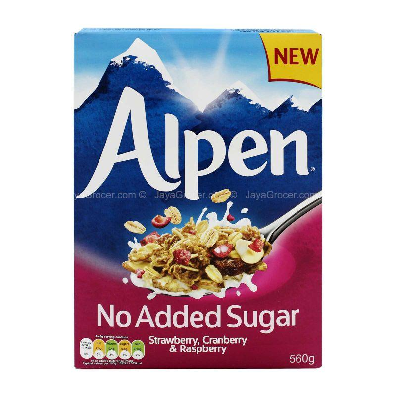 Alpen No Added Sugar Strawberry, Cranberry & Raspberry 560g
