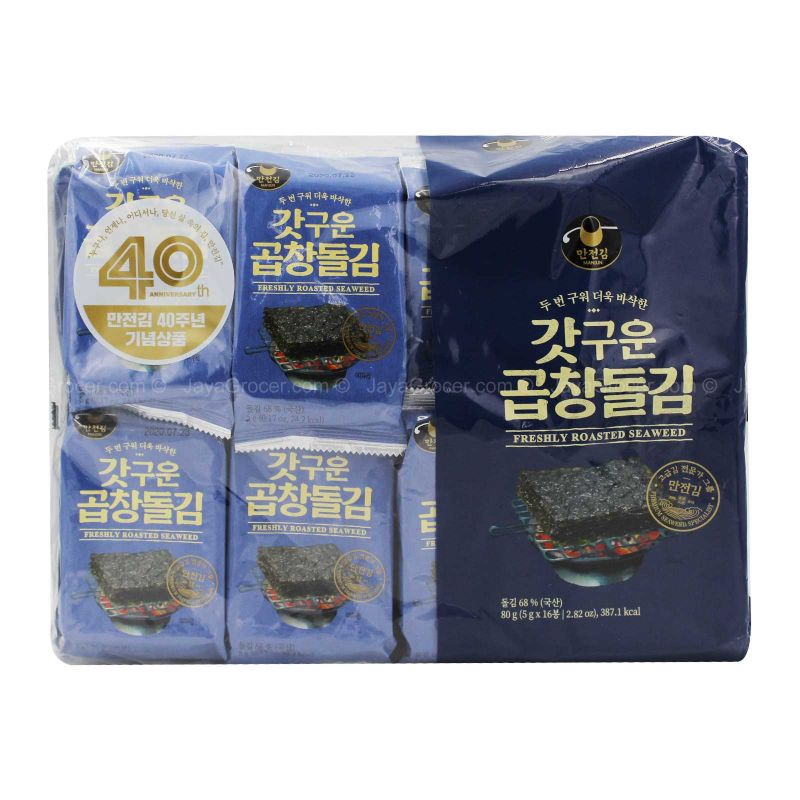 Manjun Freshly Roasted Seaweed 5g x 16