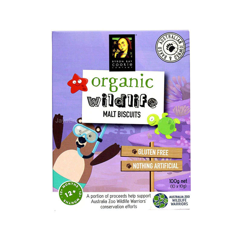Byron Bay Organic Wildlife Malt Biscuits 100g