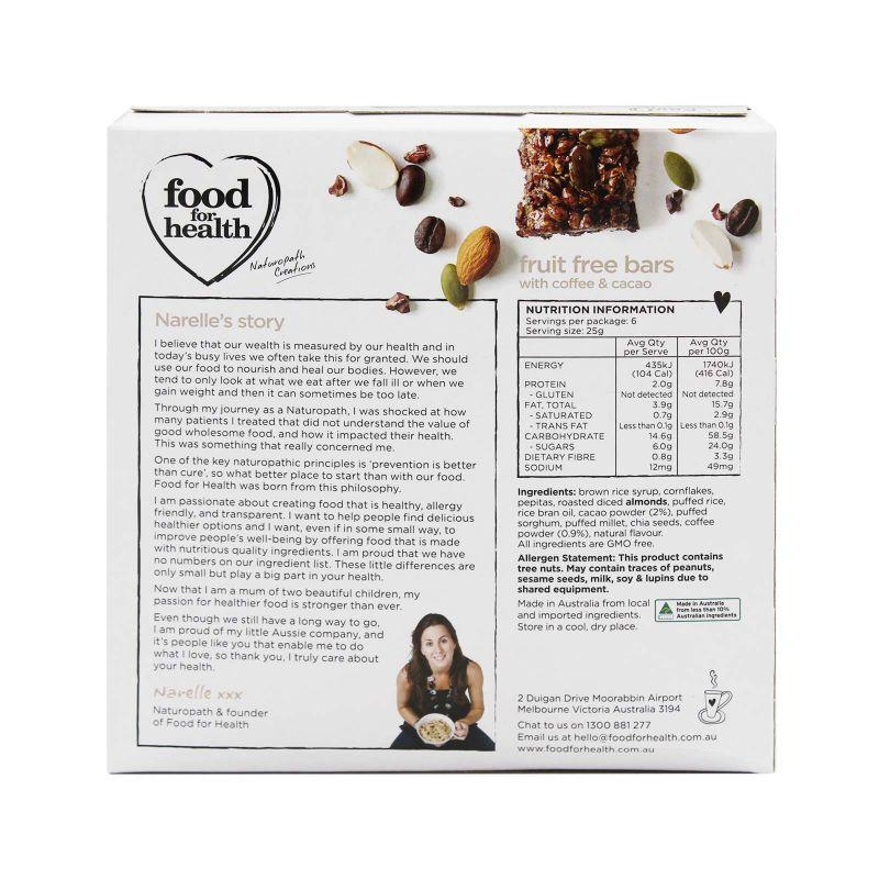 Food for Health Fruit Free Bars 150g