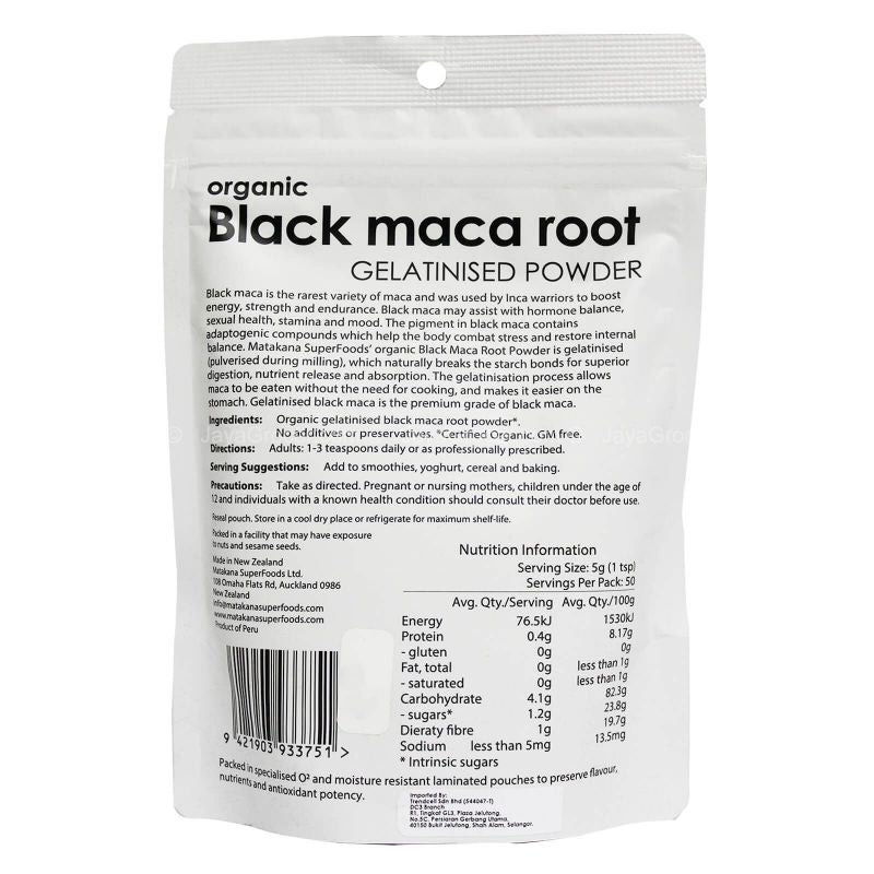 Matakana SuperFoods Organic Black Maca Root 250g