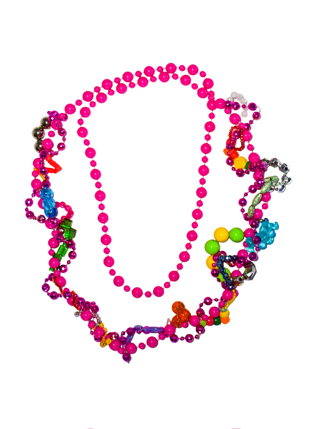 Statement pink fidget necklace