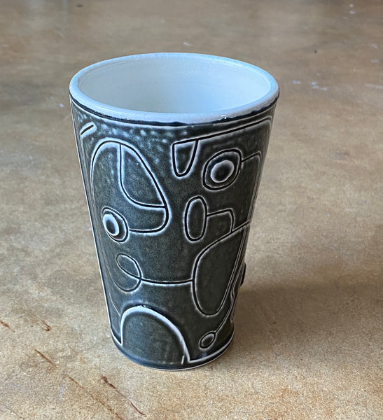 water carved tumbler 20-10