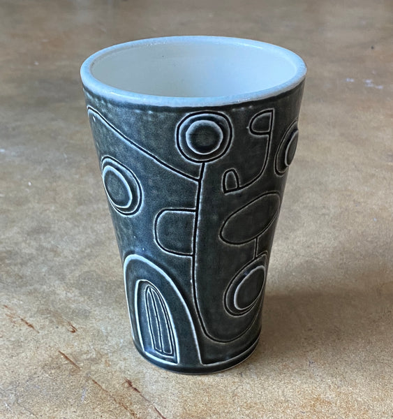 water carved tumbler 20-11