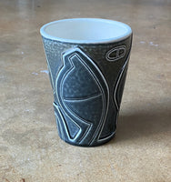 water carved tumbler 20-12