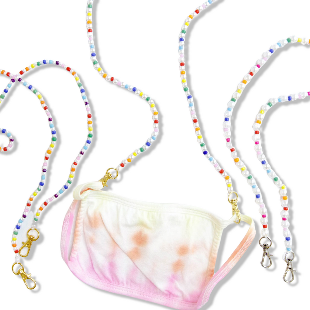 Rainbow Pearl Mask Strap
