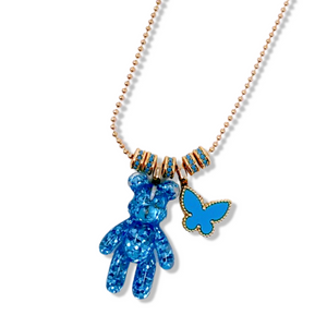 Butterfly Blue Necklace