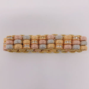 Triple Row Golden Bracelet