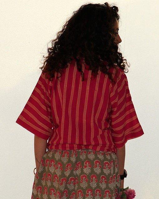 Rani Blockprinted Cotton Tieup top Blouse