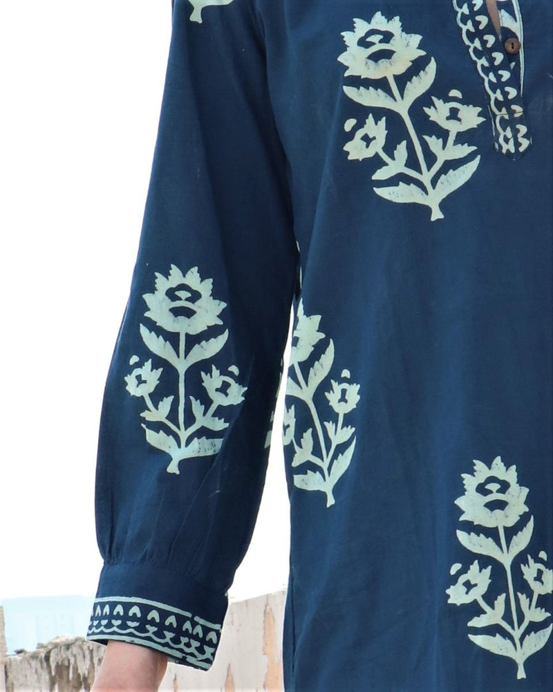 BLUEBOOTI BLOCKPRINTED COTTON DRESS