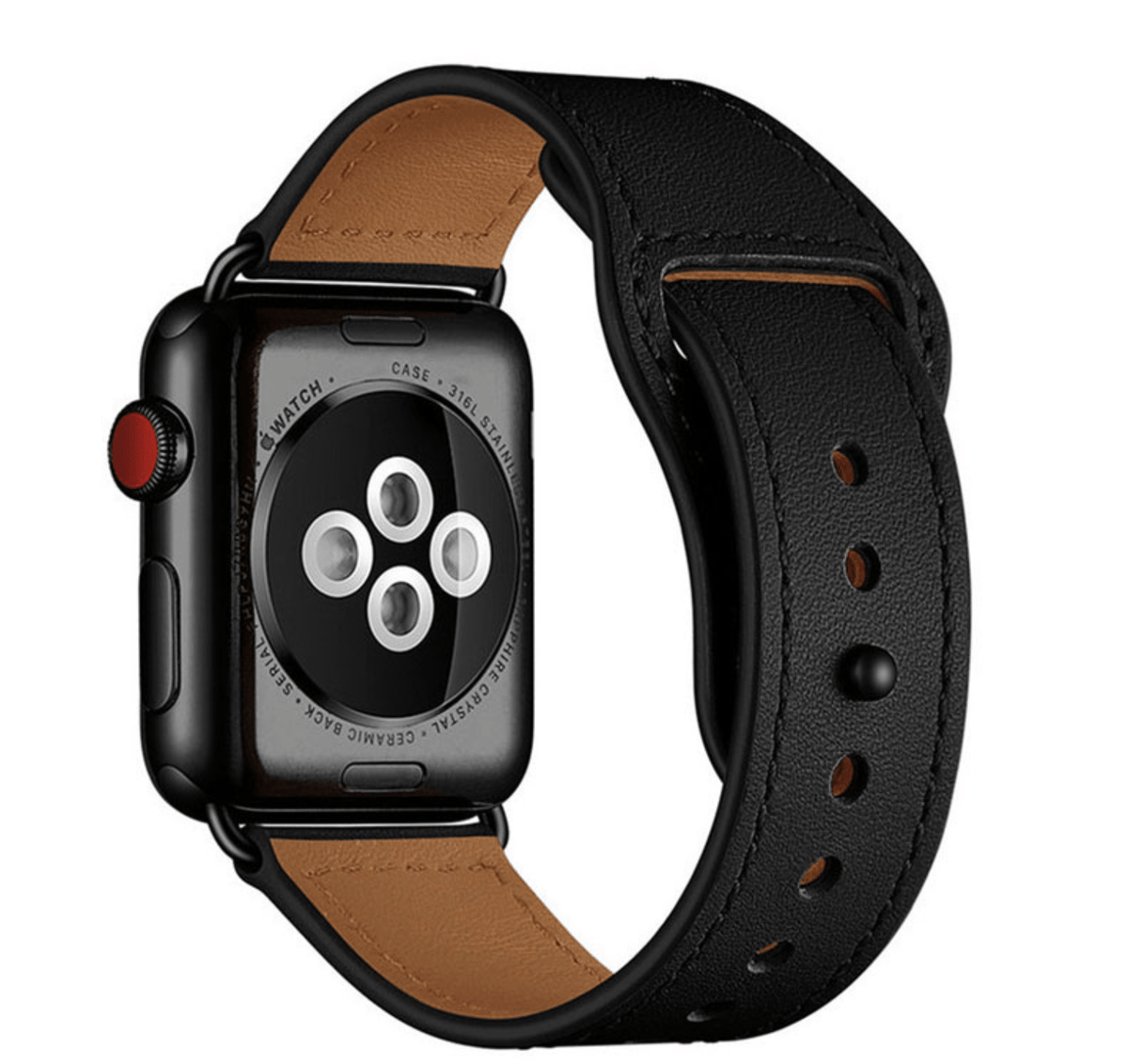 Leather Loop Strap for Apple Watch  - Black
