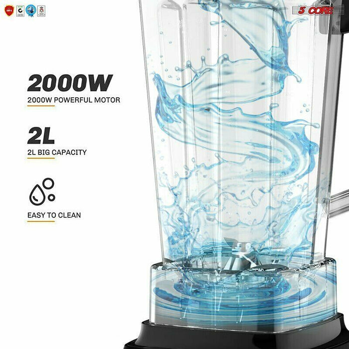 5Core PERFORMANCE PRO 4 SPEED PREMIUM Blender 72OZ Smoothie CRUSH POWERFUL 2000W