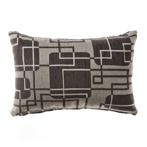 oasis charcoal silver grid modern cushion 3square online