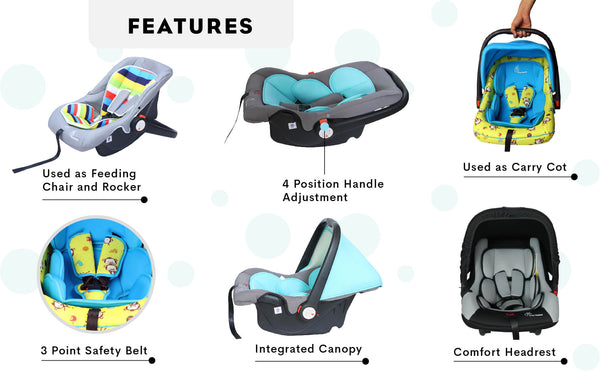 R for Rabbit Picaboo Infant Baby Car Seat