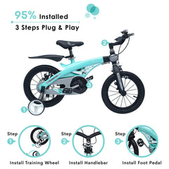 R for Rabbit Tiny Toes Jazz - The Smart Plug and Play Bicycle (14 inch/T - for 3-5 yrs)
