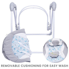R for Rabbit Snicker  Playful Automatic Baby Swing