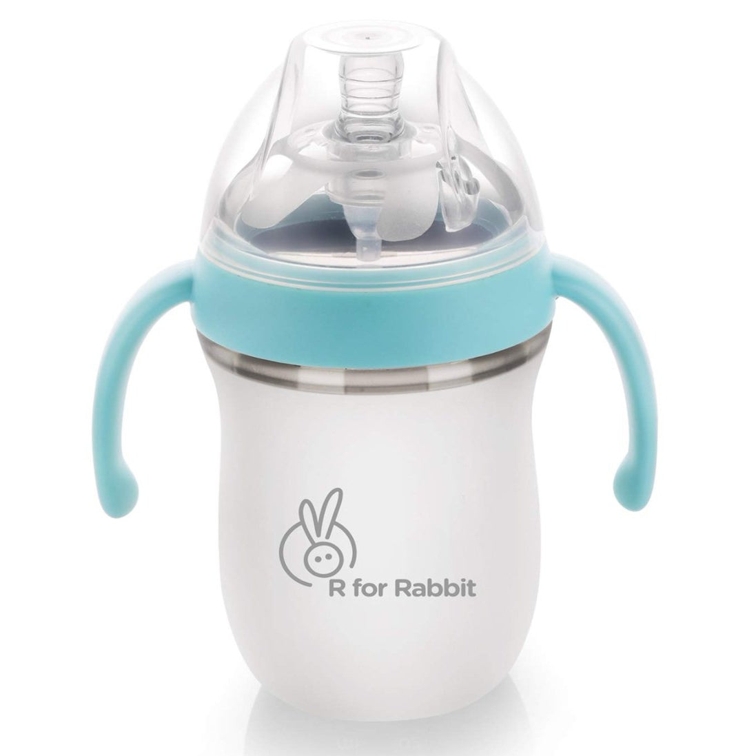 R for Rabbit First Feed 160 ml| 5 fl Oz Silicon Feeding Bottle for New Born Babies of 0 Month Plus