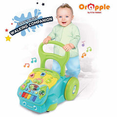 Orapple Toys by R for Rabbit  5 in 1 Learning Push Baby Walker for Kids