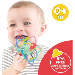 Orapple Jolly Rings BPA Free Silicon Teether for Baby 0 to 12 Months