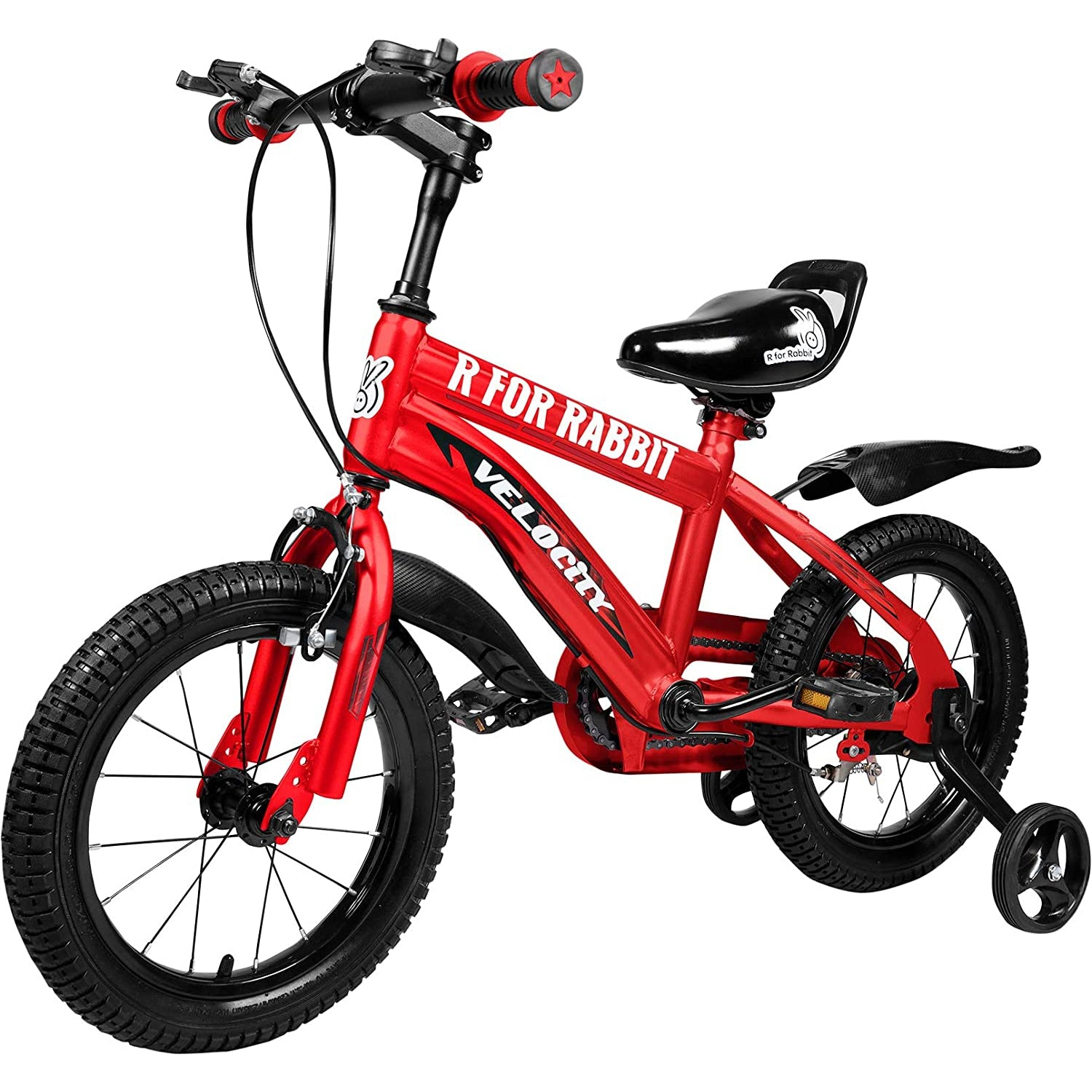 R for Rabbit Velocity 14 inch Bicycle for Kids of 3 to 5 Years Age for Boys and Girls