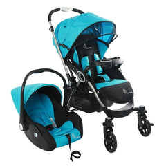R for Rabbit Baby Stroller with Car Seat Chocolate Ride Travel System