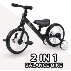 R for Rabbit Tiny Toes Trainer Plus Balance Bike - Multi Purpose 2 in 1 Balance Cycle Cum Tricycle for Kids