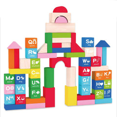 Orapple Alphabet Colorful 60 Blocks Toys for Kids