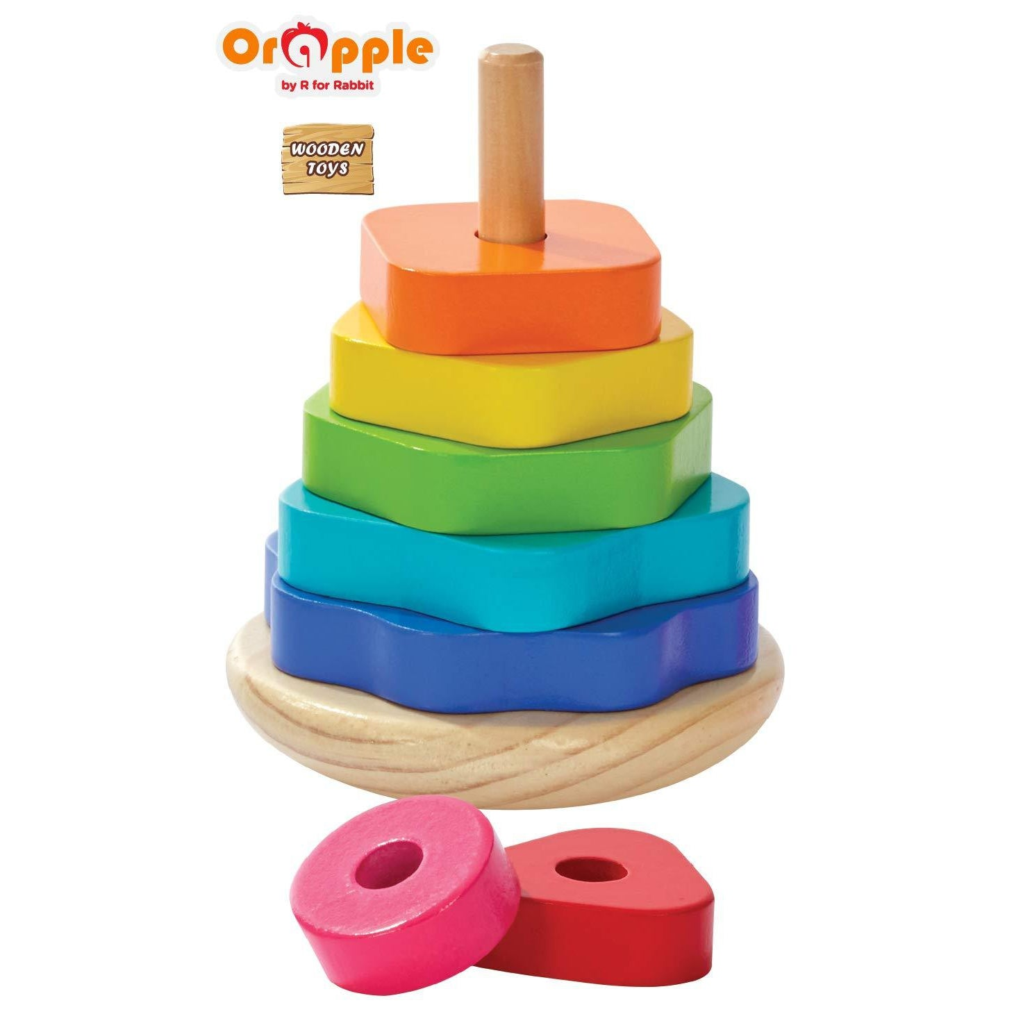 Orapple by R For Rabbit  Shape Stacker Toys for Kids