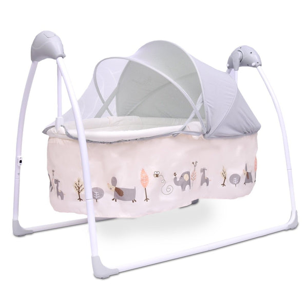 R for Rabbit Lullabies - The Auto Swing Baby Cradle(Cream)