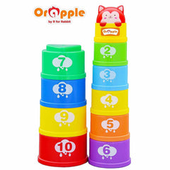 Orapple Toys by R for Rabbit Stack It Learning Cups with Music for Kids