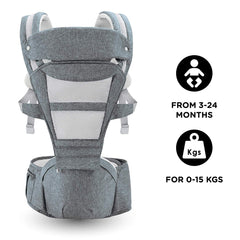 R for Rabbit Upsy Daisy Smart Ergonomic Hip Seat Baby Carrier for New Parents