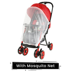 R for Rabbit Poppins Plus Pram- Baby Stroller and Pram for Baby with Mosquito Net and Hanging Toy