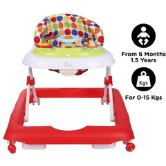 R for Rabbit Step Up Anti Fall Baby Walker with Adjustable Height and Musical Toy Bar for Kids